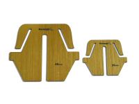 Набор шаблонов для угловых бантиков (2 шт).