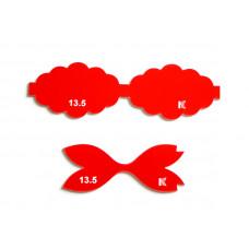 """Шаблон для бантиков """"Волнистый"""" (13.5 см)"""